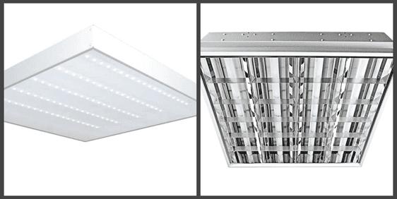 Светодиодные светильники или люминесцентные лампы?