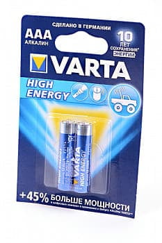 Элемент питания VARTA HIGH ENERGY/LONGLIFE POWER 4903 LR03 BL2 NEW