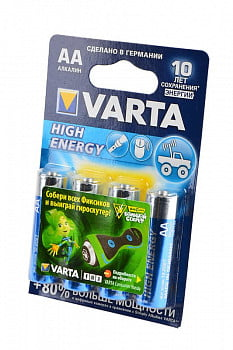 Элемент питания VARTA HIGH ENERGY/LONGLIFE POWER 4906 LR6 BL4