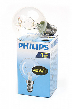 Лампа PHILIPS P45 40W E14 CL 011862