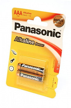 Элемент питания Panasonic Alkaline Power LR03APB/2BP LR03 BL2