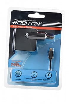 Адаптер/блок питания ROBITON App05 Charging Kit 2.4A iPhone/iPad (100-240V) BL1