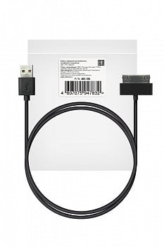 Кабель USB ROBITON P4 USB A - 30pin (Apple iPhone4), Charge&Sync, 1м черный PK1
